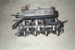 intake manifold, injectors, fuel rail, ignition coil, and sensors