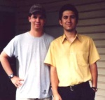 Me and LordLinus (Stephen) in front of his apartment in Mobile, Alabama